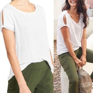 Athleta Linen Zephyr Cold Shoulder
